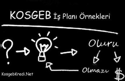 KOSGEB İş Planı Örneği 2021 (Hazırlama, Doldurma BURADA)
