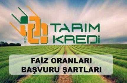 Tarım Kredi Kooperatifi Kredileri (2020 Faiz Oranı Şartları)