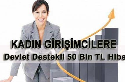 Kadın Girişimcilere 50 Bin TL Hibe Devlet Destekli Kredi