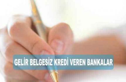 Gelir Belgesiz Kredi Veren Bankalar 2020 (En İyi İlk 5)