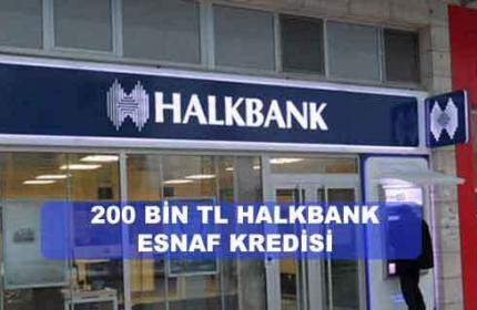 HALKBANK Esnaf Kredisi Başvuruları Başladı! (BU AYKİ FAİZLER)
