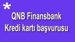 QNB Finansbank kredi kartı başvurusu SMS