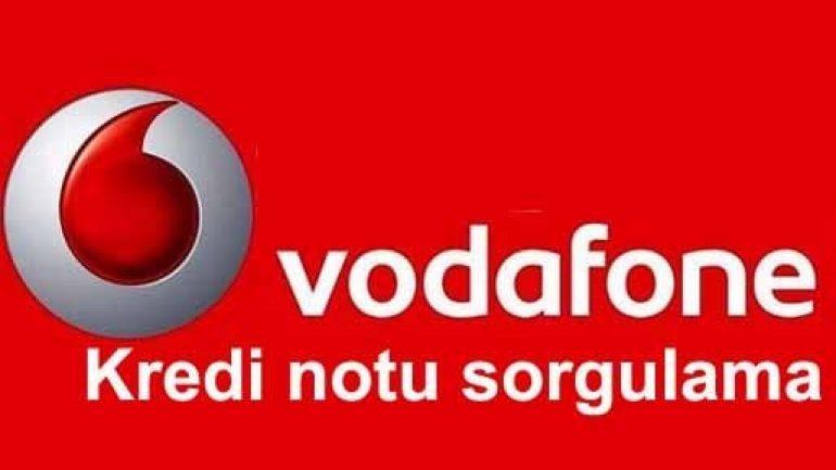 Vodafone kredi notu sorgulama