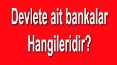 Devlete Ait Bankalar Hangileri? Tam 8 Tane Var