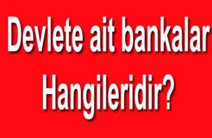 Devlete Ait Bankalar Hangileri? Tam 8 Tane