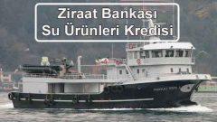 Ziraat Bankası Su Ürünleri Kredisi (Balıkçı Teknesi)
