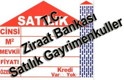 Ziraat bankası satılık daireler 81 ilin tamamında