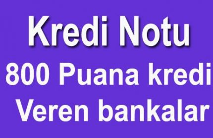 800 Puana Kredi Veren Bankalar 5 Dakika'da [ANINDA CEBİNİZDE]