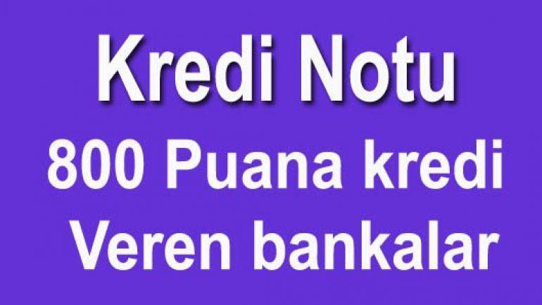 800 Puana kredi veren bankalar 5 dakika 'da