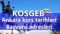 KOSGEB Ankara kurs tarihleri başvuru formu