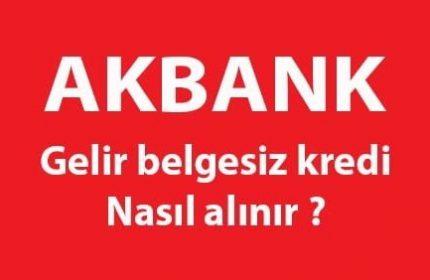 Akbank 100 Bin TL 36 Ay Vadeli Gelir Belgesiz Kredi Veriyor