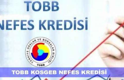 4. ETAP TOBB Nefes Kredisi Başvuruları Başladı (Denizbank)