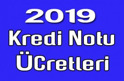 2019 Yılı kredi notu sorgulama ücretleri belli oldu