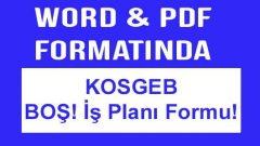 Boş KOSGEB İş Planı Formu İŞGEM Dahil 1 Word 1 PDF