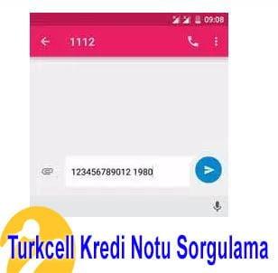 Turkcell kredi notu sorgulama işleminin yapılması