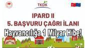 1 Milyar TL hayvancılık hibesi TKDK IPARD programıyla geliyor
