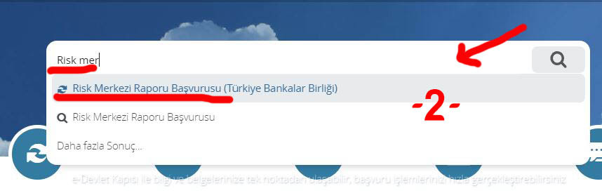 E-devlet banka kredi notu sorgulama sistemine giriş