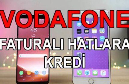 Vodafone Faturalı Hatlara Nakit 15 Bin TL Kredi (GÜVENLİ)