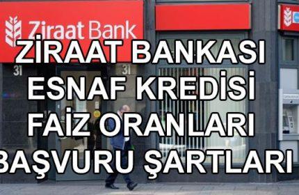 Ziraat Bankası Esnaf Kredisinin Faiz Oranları Ne Kadar?