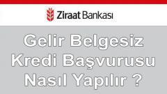 Ziraat Bankası Gelir Belgesiz Kredi Detayları (30 Bin TL Anında)