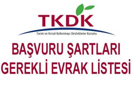 TKDK Başvurusu Şartları, İstenilen Gerekli Evrak Listesi