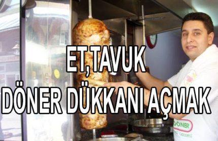 Et, Tavuk Döner Nohutlu Pilav Dükkanı Açmak