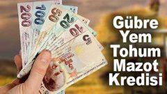 Mazot, Tohum, Gübre ve Yem Alımlarına Faizsiz Kredi!